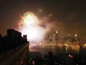 Macy's Fireworks from Brooklyn Heights